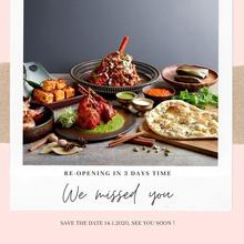 [RE-OPENING IN 3 DAYS] If you miss the authentic flavours of North Indian cuisine prepared by Tandoor, Singapore's most awarded Indian restaurant as much as we do. We're excited and happy to share that the restaurant will be re-opening this Thursday, 14 January 2021! Book your table today: m.me/HolidayInnOrchardCityCentre.  #MondayMotivation #MotivationalMonday